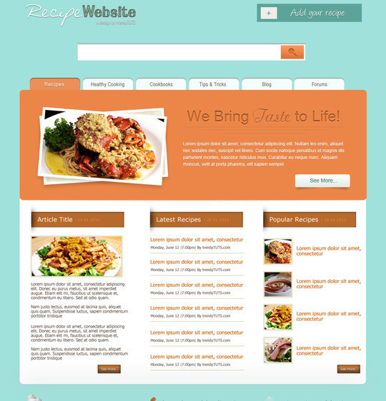 50 Truly Eye-Catching And Detailed Web Layout Tutorials 17