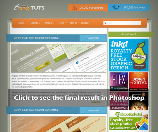 50 Truly Eye-Catching And Detailed Web Layout Tutorials 15