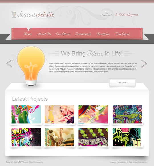 50 Truly Eye-Catching And Detailed Web Layout Tutorials 22