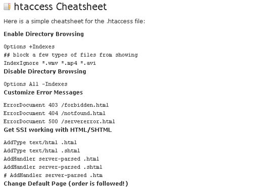 50 Must Have Cheat Sheets For Web Designers & Developers 51
