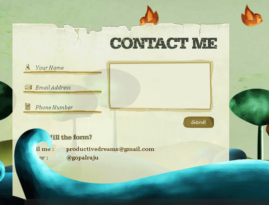 Showcase Of Effective And Creatively Designed Contact Forms 31