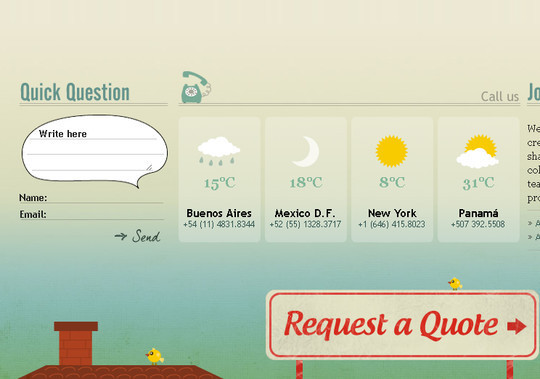 Showcase Of Effective And Creatively Designed Contact Forms 34