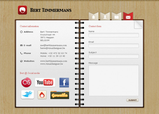 Showcase Of Effective And Creatively Designed Contact Forms 36