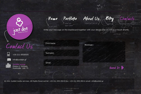 Showcase Of Effective And Creatively Designed Contact Forms 2