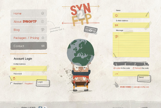 Showcase Of Effective And Creatively Designed Contact Forms 8
