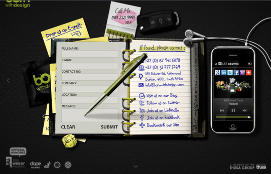 Showcase Of Effective And Creatively Designed Contact Forms 1