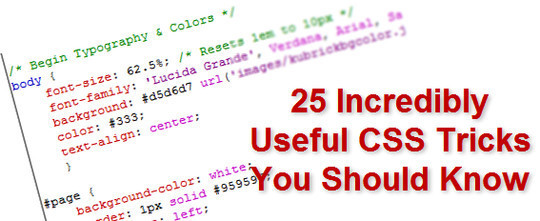 40 Useful CSS Tutorials, Techniques And Resources 41