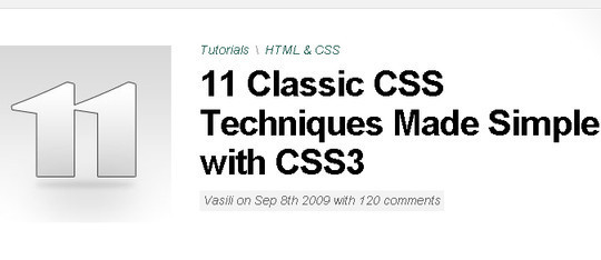 40 Useful CSS Tutorials, Techniques And Resources 42