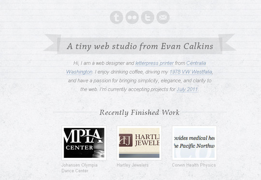 40 Examples Of Creatively Integrated Social Media Links In Web Design 26