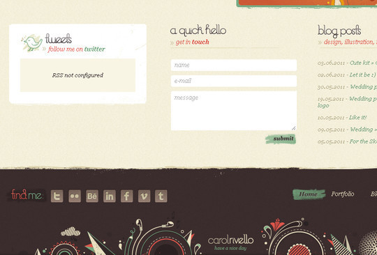 40 Examples Of Creatively Integrated Social Media Links In Web Design 10