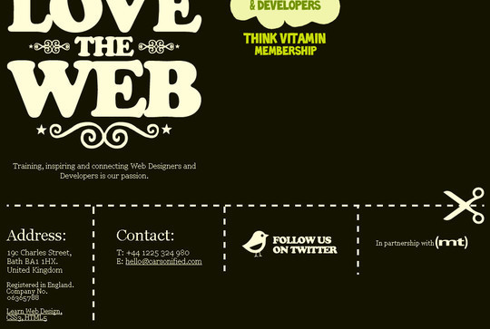 40 Examples Of Creatively Integrated Social Media Links In Web Design 36