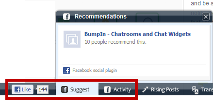 Bumpin Social Bar And Shoutbox Adds Social Interactivity To Your Site 4