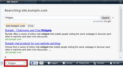 Bumpin Social Bar And Shoutbox Adds Social Interactivity To Your Site 3