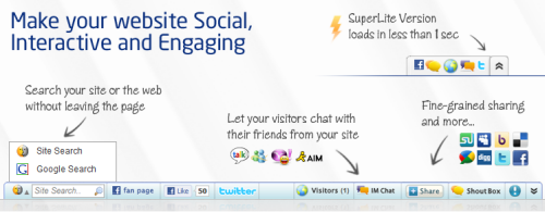 Bumpin Social Bar And Shoutbox Adds Social Interactivity To Your Site 2