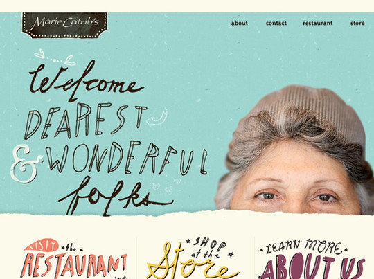 50 Hand Drawn Website Designs For Your Inspiration 14