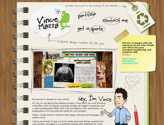 50 Hand Drawn Website Designs For Your Inspiration 16