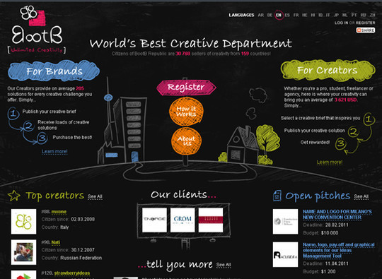 50 Hand Drawn Website Designs For Your Inspiration 9