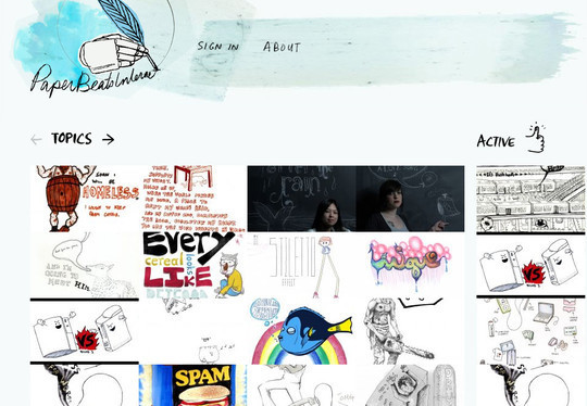 50 Hand Drawn Website Designs For Your Inspiration 41