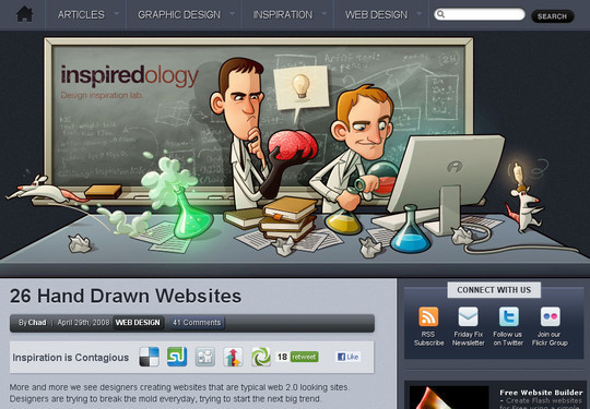 50 Hand Drawn Website Designs For Your Inspiration 46
