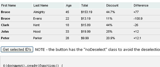 Extensive Collection Of Useful jQuery Plugins For Working With Tables 35