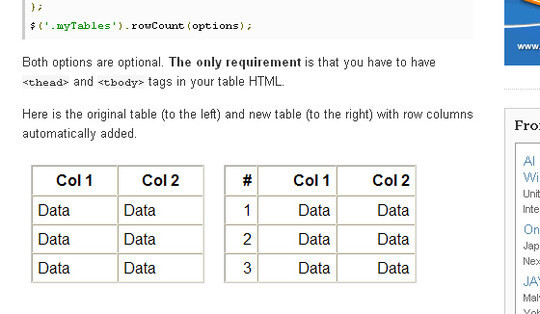 Extensive Collection Of Useful jQuery Plugins For Working With Tables 13