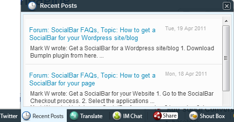 Bumpin Social Bar And Shoutbox Adds Social Interactivity To Your Site 8