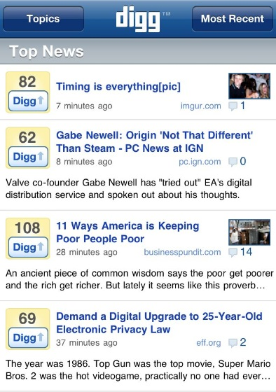 Digg App For iOS: 5 Reasons You Should (Really) Use It 1