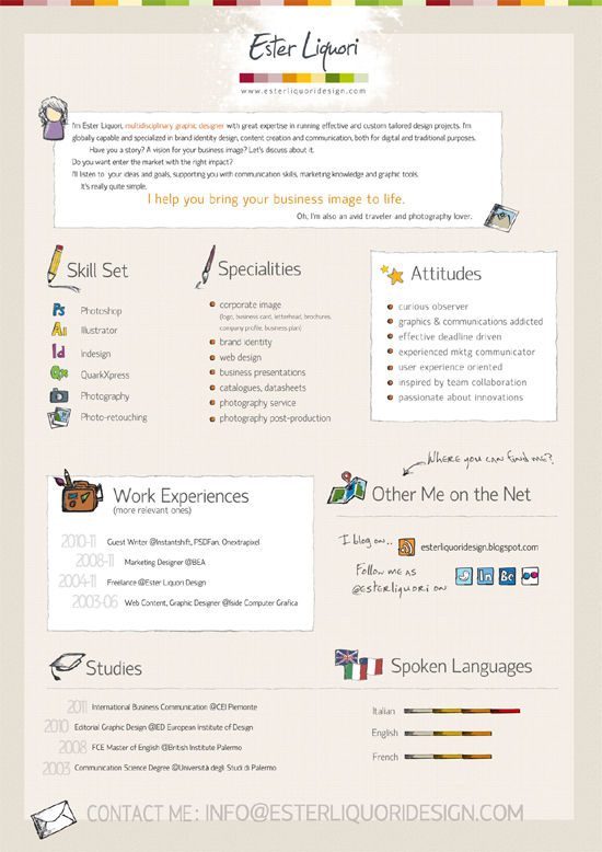 Resume Designs (Like Infographics) That Can Stand Out In A Crowd 4