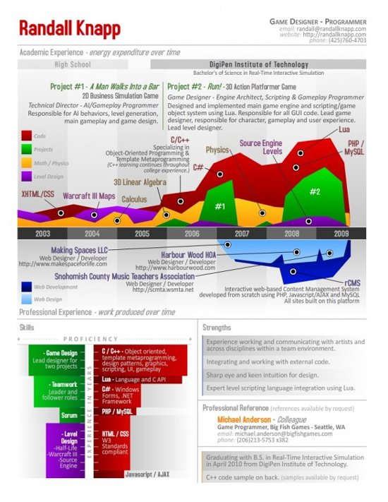 Resume Designs (Like Infographics) That Can Stand Out In A Crowd 8