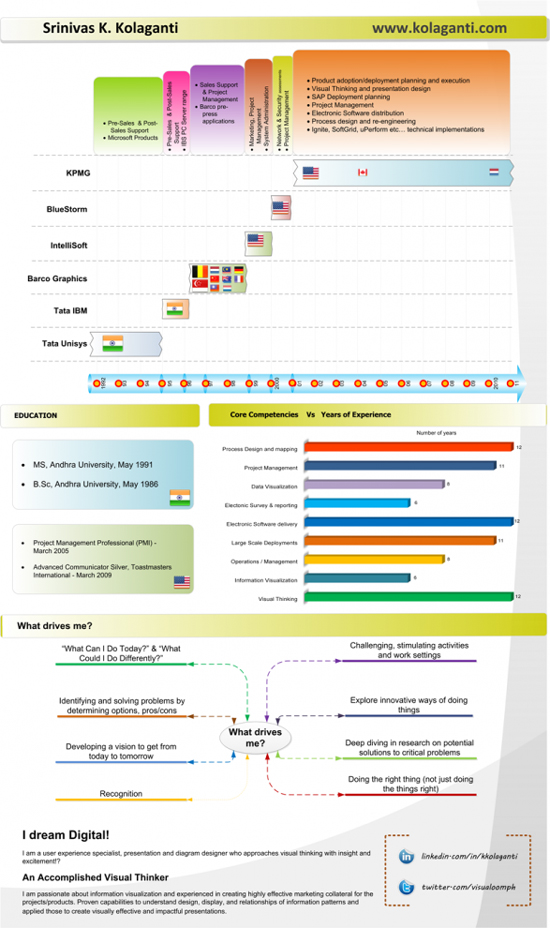 Resume Designs (Like Infographics) That Can Stand Out In A Crowd 10