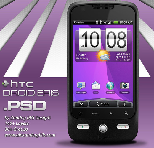 Roundup Of Fresh And High Quality Smart Phones PSD Files 2