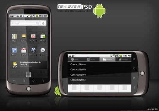 Roundup Of Fresh And High Quality Smart Phones PSD Files 14