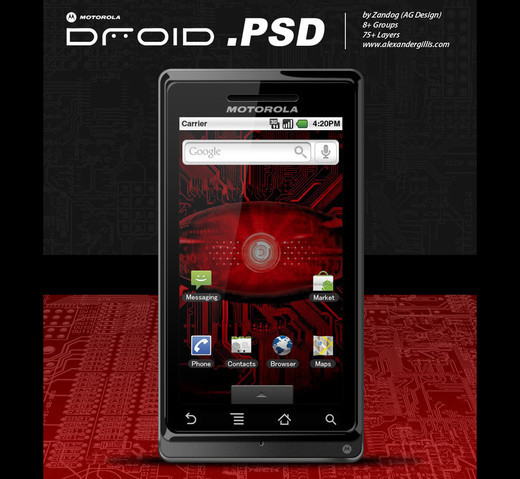 Roundup Of Fresh And High Quality Smart Phones PSD Files 21