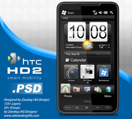 Roundup Of Fresh And High Quality Smart Phones PSD Files 32
