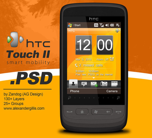 Roundup Of Fresh And High Quality Smart Phones PSD Files 3