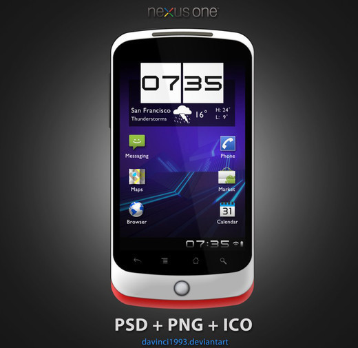 Roundup Of Fresh And High Quality Smart Phones PSD Files 45