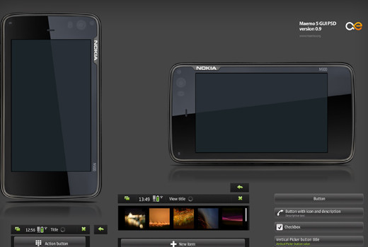 Roundup Of Fresh And High Quality Smart Phones PSD Files 52