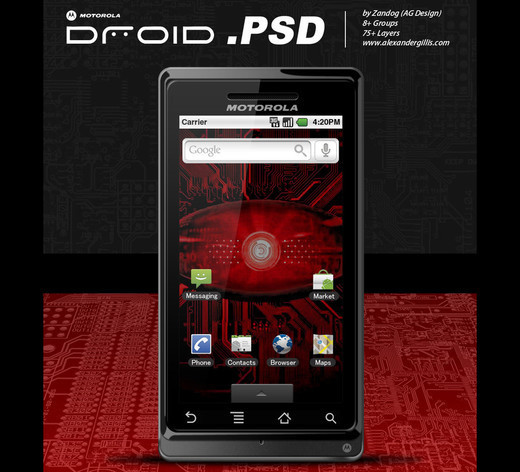 Roundup Of Fresh And High Quality Smart Phones PSD Files 9