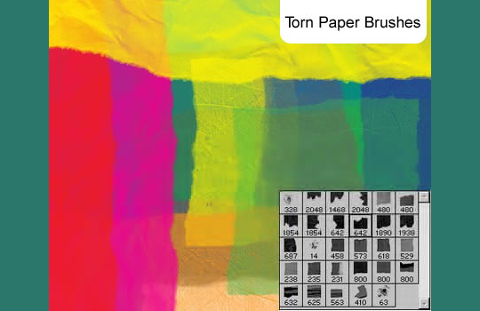 50 Useful Paper Photoshop Brushes For Creative Designs 10