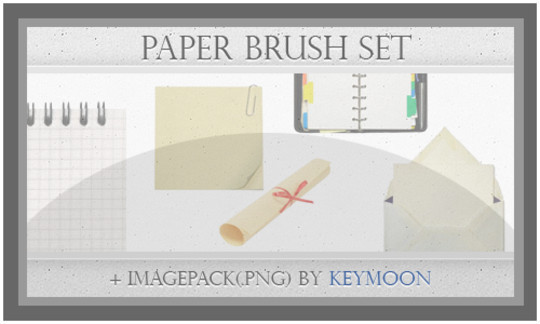50 Useful Paper Photoshop Brushes For Creative Designs 43