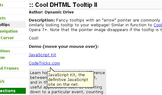50 Awesomely Useful Yet Free jQuery Tooltip Plugins 6