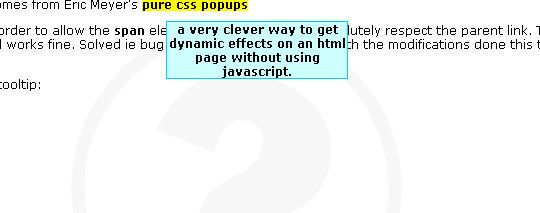 Pure CSS Tooltips
