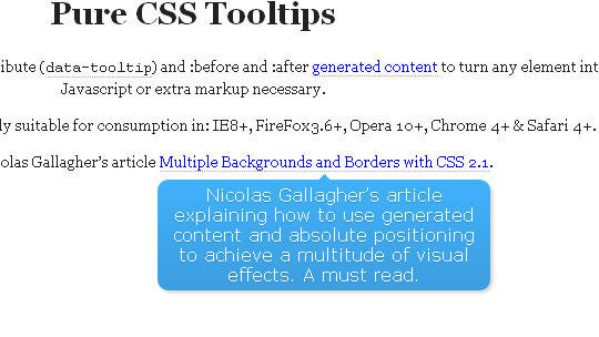 CSS Tooltips using generated content and HTML5