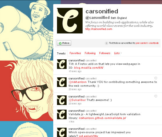 45 Fabulous Examples Of Illustrated Twitter Backgrounds 12