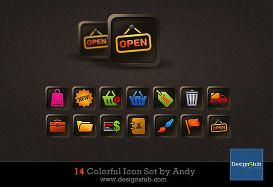 40 Fresh And High Quality Free Icon Sets In PSD Format 38