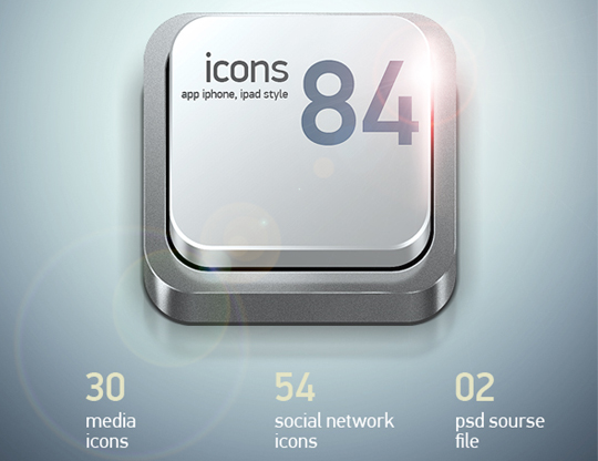 40 Fresh And High Quality Free Icon Sets In PSD Format 4