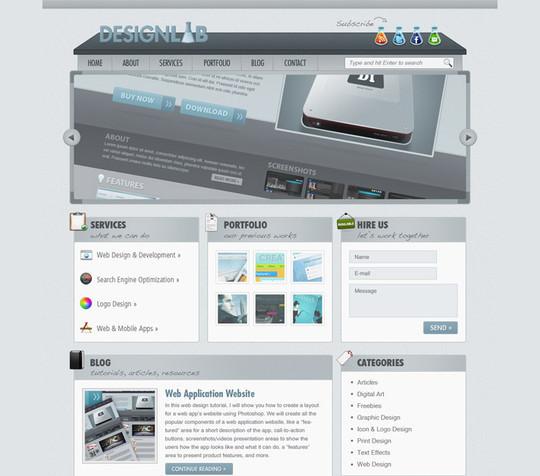 Best Of 2011: 45 Photoshop Web Design Layout Tutorials 27