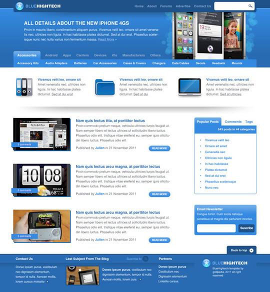 Best Of 2011: 45 Photoshop Web Design Layout Tutorials 30