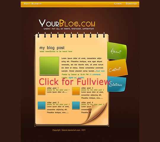 Best Of 2011: 45 Photoshop Web Design Layout Tutorials 32