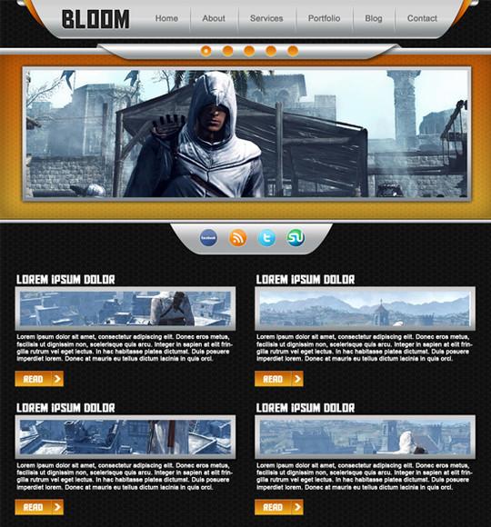 Best Of 2011: 45 Photoshop Web Design Layout Tutorials 33